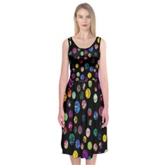 Playful Balls Midi Sleeveless Dress by Contest2491068