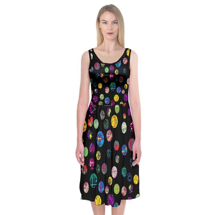 Playful balls Midi Sleeveless Dress