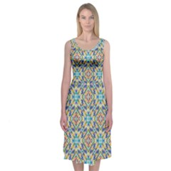 Jules Abstract Midi Sleeveless Dress by Contest2481019
