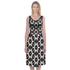 Hex Geometric Midi Sleeveless Dress by Contest2481019