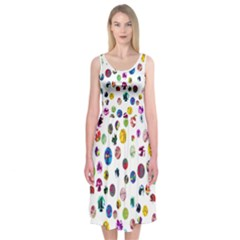 Play With Me Midi Sleeveless Dress by Contest2491068