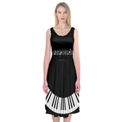 Music Midi Sleeveless Dress by Contest2242749