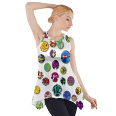Play With Me Side Drop Tank Tunic by Valentinaart