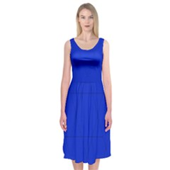 Blue Star Midi Sleeveless Dress by Contest2476114
