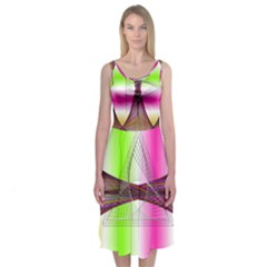 Neon Ribs Midi Sleeveless Dress by Contest2476114