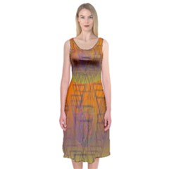Spiral Midi Sleeveless Dress by Contest2476114