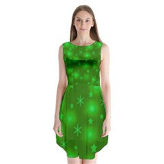 Green Xmas Design Sleeveless Chiffon Dress   by Valentinaart