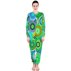 Funky Flowers A Onepiece Jumpsuit (ladies)  by MoreColorsinLife