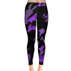 Painter Was Here   Purple Leggings  by Valentinaart