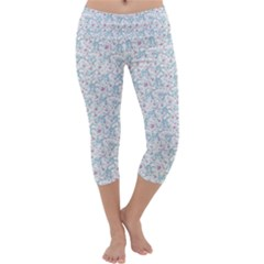 Intricate Floral Collage  Capri Yoga Leggings by dflcprintsclothing