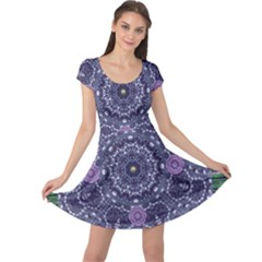 Star Of Mandalas Cap Sleeve Dresses by pepitasart