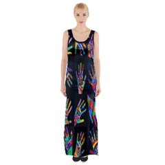 Art With Your Hand Maxi Thigh Split Dress