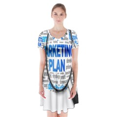 Article Market Plan Short Sleeve V Neck Flare Dress by AnjaniArt