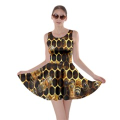 Bees On A Comb Skater Dress