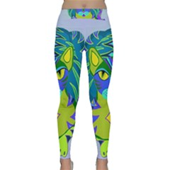 Peacock Tabby Yoga Leggings  by jbyrdyoga
