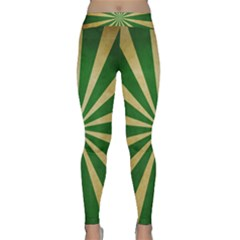 Colored Vintage Yoga Leggings  by AnjaniArt