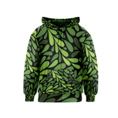 Free Green Nature Leaves Seamless Kids  Zipper Hoodie
