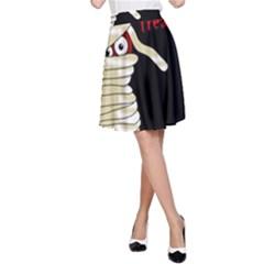 Halloween Mummy   A Line Skirt by Valentinaart