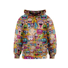 Smiley Pattern Kids  Zipper Hoodie
