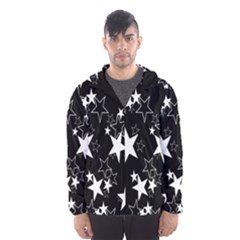 Star Black White Hooded Wind Breaker (men)