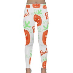 Halloween Pumpkins Pattern Yoga Leggings  by Valentinaart