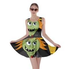 Halloween Witch Skater Dress by Valentinaart