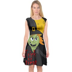 Halloween Witch Capsleeve Midi Dress by Valentinaart