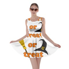 Twerk Or Treat   Funny Halloween Design Skater Dress by Valentinaart
