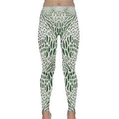 Green Snake Texture Yoga Leggings  by LetsDanceHaveFun