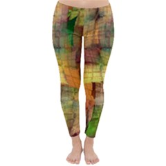 Indian Summer Funny Check Winter Leggings  by designworld65