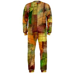 Indian Summer Funny Check Onepiece Jumpsuit (men)  by designworld65