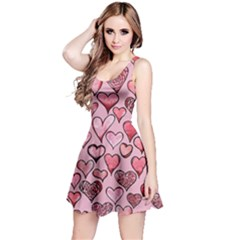 Artistic Valentine Hearts Reversible Sleeveless Dress by BubbSnugg