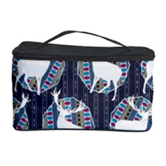 Geometric Deer Retro Pattern Cosmetic Storage Case by DanaeStudio