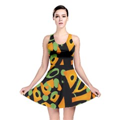 Abstract Animal Print Reversible Skater Dress by Valentinaart