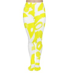 Yellow Sunny Design Women s Tights by Valentinaart