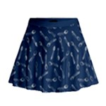 Spoonie Strong Print in Marine Blue Mini Flare Skirt