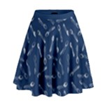 Spoonie Strong Print in Marine Blue High Waist Skirt