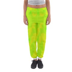 Simple Yellow And Green Women s Jogger Sweatpants by Valentinaart