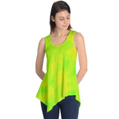 Simple Yellow And Green Sleeveless Tunic by Valentinaart