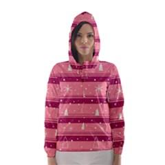Pink Xmas Hooded Wind Breaker (women) by Valentinaart