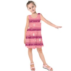 Pink Xmas Kids  Sleeveless Dress by Valentinaart