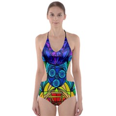 Arcturian Conjunction Grid   Cut Out One Piece Swimsuit by tealswan