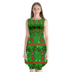 Reindeer Pattern Sleeveless Chiffon Dress   by Valentinaart