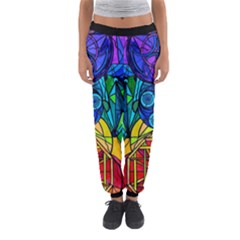 Arcturian Conjunction Grid - Women s Jogger Sweatpants by tealswan
