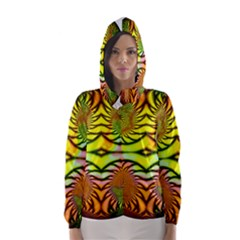 Fractals Ball About Abstract Hooded Wind Breaker (women)