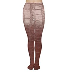 Leather Snake Skin Texture Women s Tights by AnjaniArt