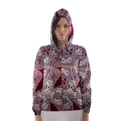 Morocco Motif Pattern Travel Hooded Wind Breaker (women) by AnjaniArt