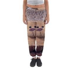 Stuffed Animal Fabric Dog Brown Women s Jogger Sweatpants by AnjaniArt