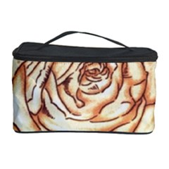 Texture Flower Pattern Fabric Design Cosmetic Storage Case by AnjaniArt