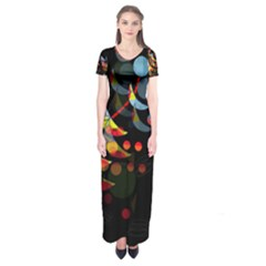 Magical Night  Short Sleeve Maxi Dress by Valentinaart